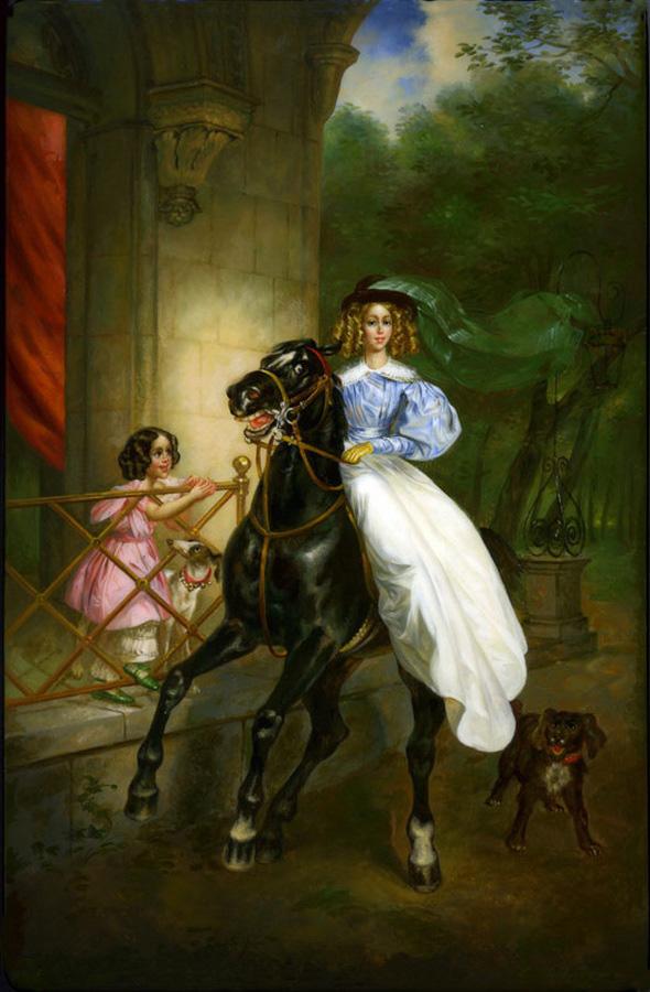 048 Всадница (копия с картины Карла Брюллова) (455x694, 44Kb) .