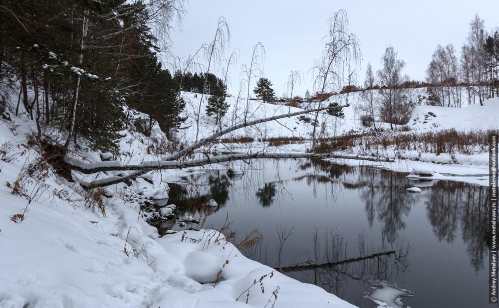 река Каменка в городе Каменск-Уральский