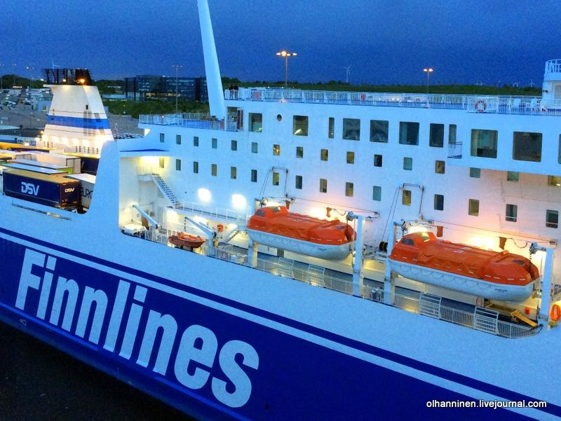 путешествие по морю на корабле Finnlines
