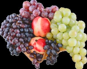 фрукты с виноградом
