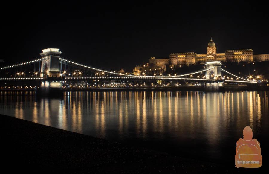 Красивый вид с набережной Дуная