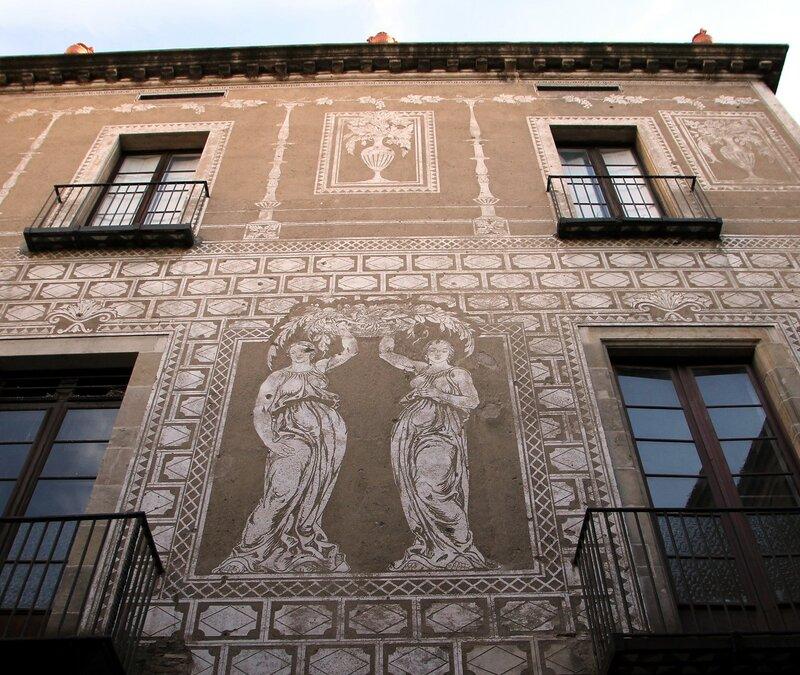 Barcelona. The house of the canons (Casa de los canónigos)
