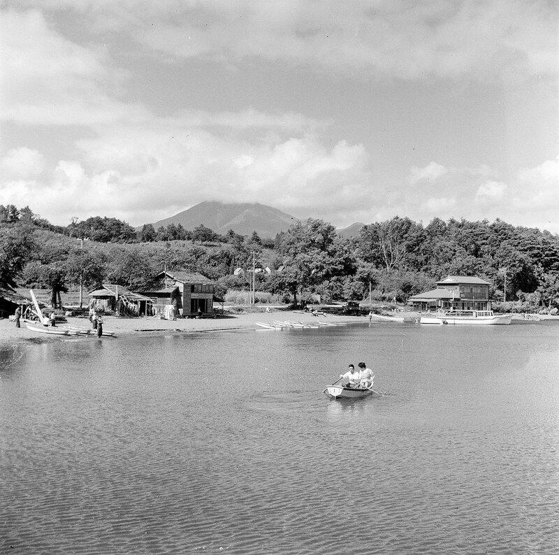 Rowboat on a Lake - 1950s Japan