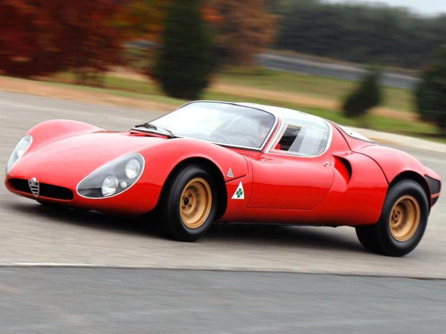 12. «Alfa Romeo 33 Stradale»: годы выпуска с 1967 по 1969 По своему внешнему виду этот автомобиль на