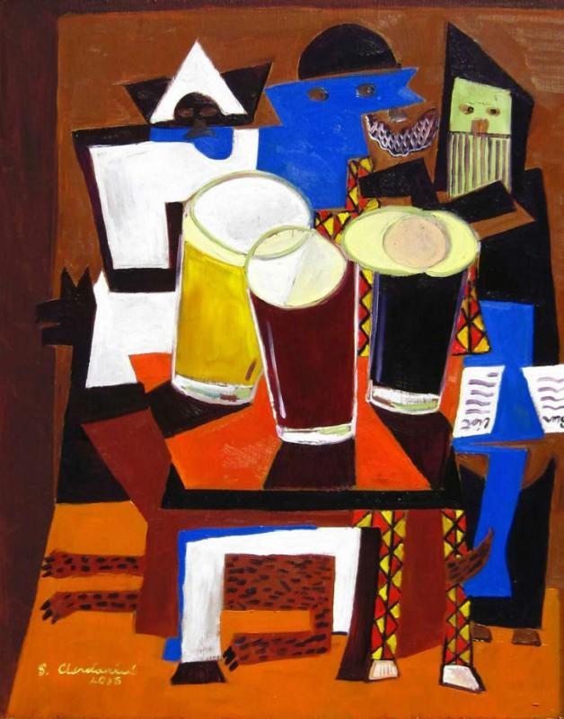 Три музыканта после работы (Пабло Пикассо).