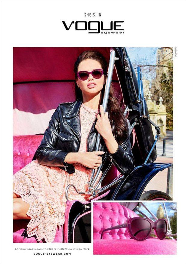 Адриана Лима в рекламе Vogue Eyewear