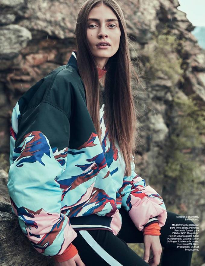 Марин Делиу на обложке Harper's Bazaar