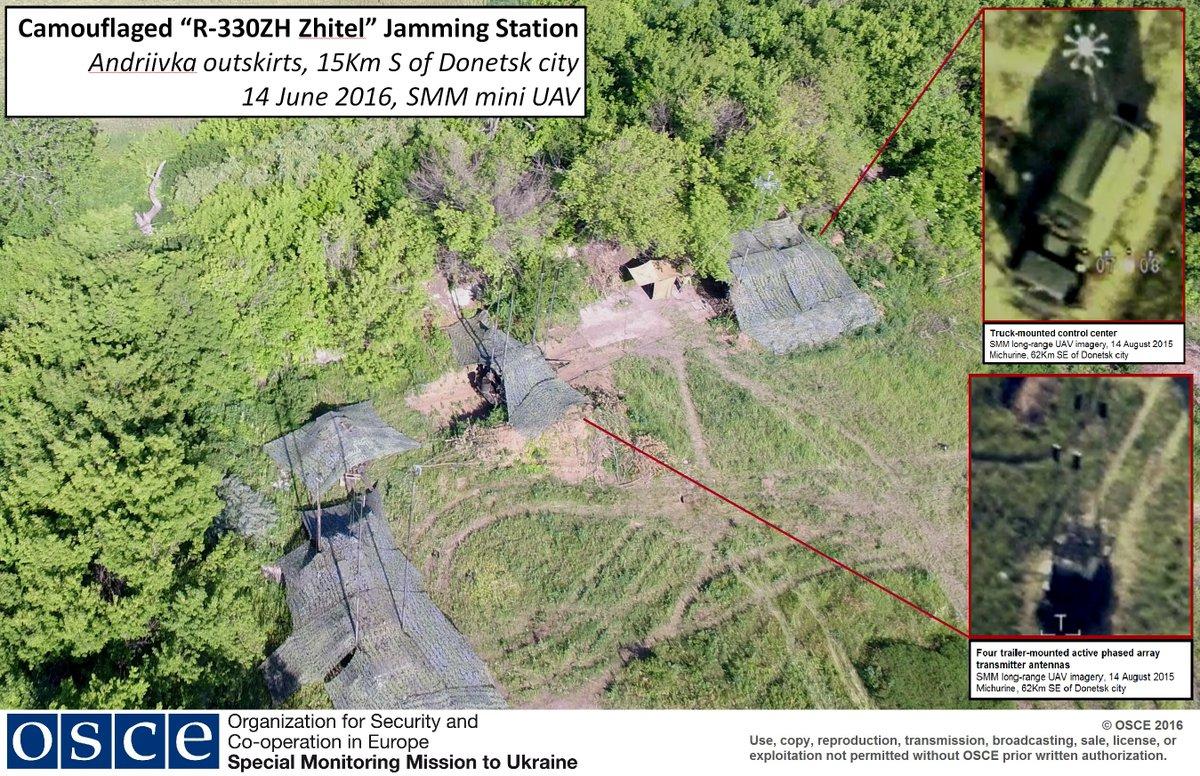 Миссия ОБСЕ зафиксировала наДонбассе две станции радиоэлектронной борьбы