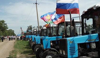 «Тракторный марш» кубанских фермеров на российскую столицу остановили