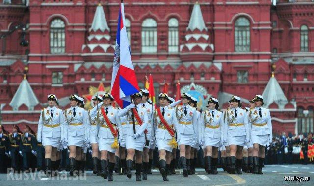 СМИ раскритиковали девушек-военнослужащих на параде