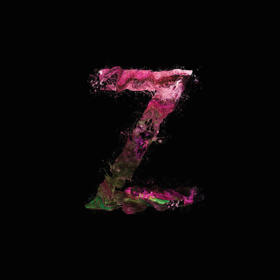 Abstract Paint Typography Alphabet