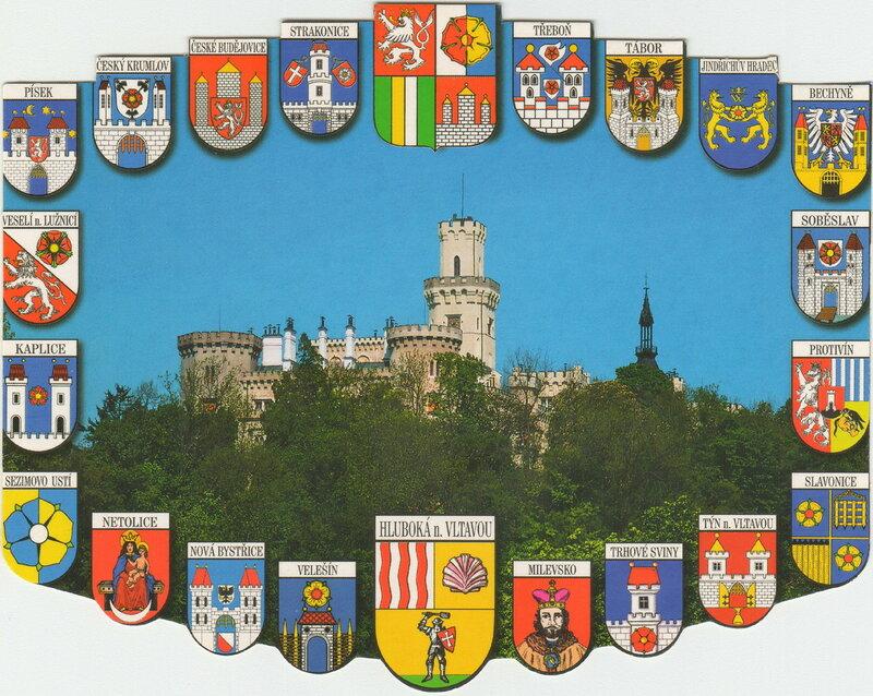 гербы городов и градов Южной Богемии