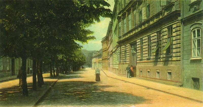 Будвайзер (Ческе-Будеёвице), улица Ланна, 1910 г.