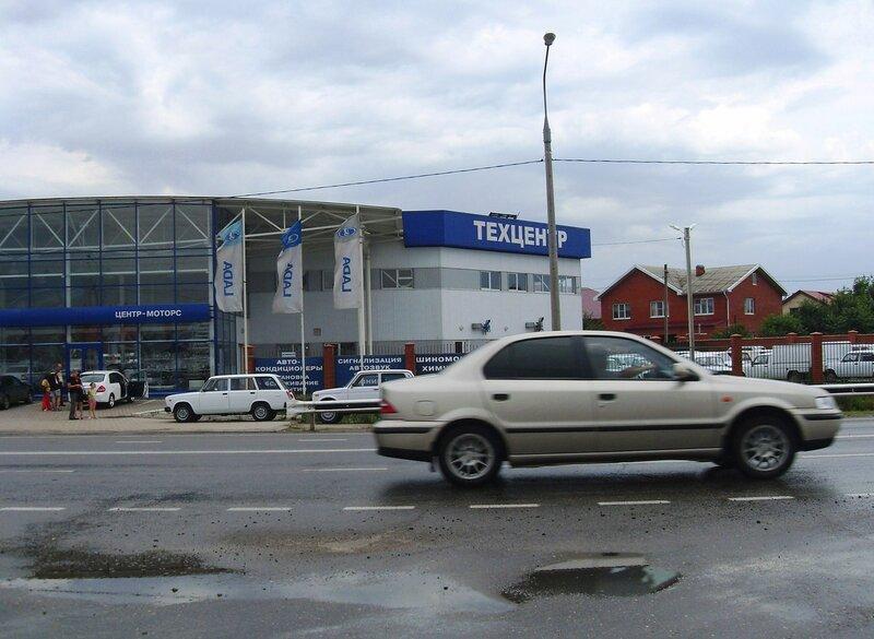 На дороге в центр Краснодара, июль, дождливая погода ...SDC13084.JPG