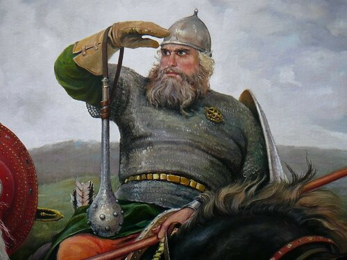 Илья Муромец. Фрагмент картины.