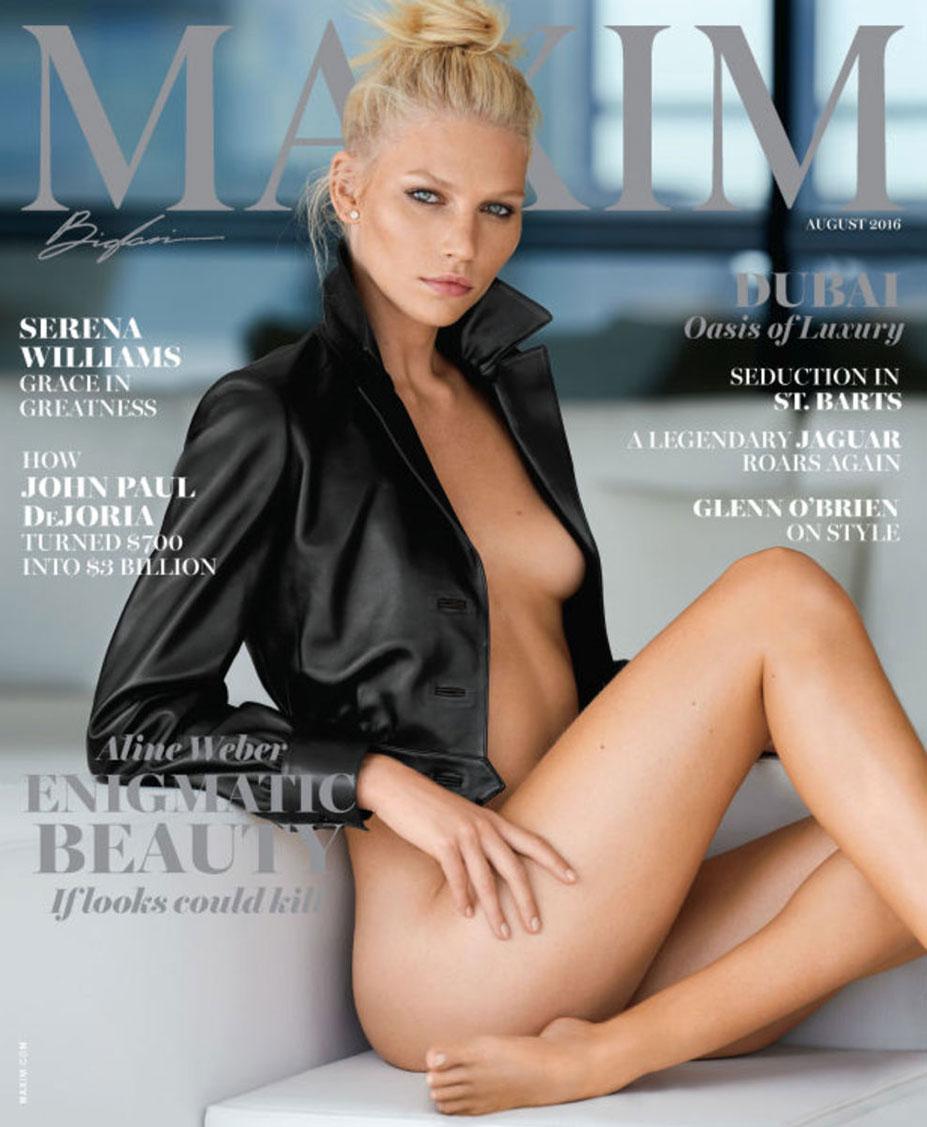 Алина Вебер в журнале Maxim US august 2016 - Aline Weber by Gilles Bensimon