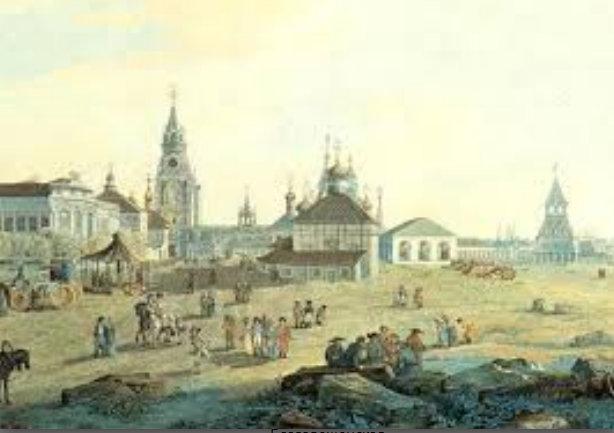 Вид с запада на юго-восточную часть Кремля с церковью Николы Гостунского 51.jpg