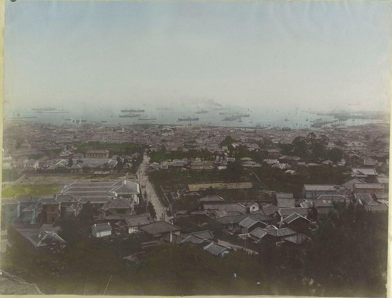 Нагасаки. Панорама города и порта