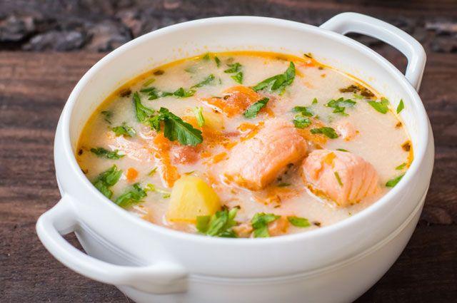 Рецепт супа с рыбой и сливками рецепт