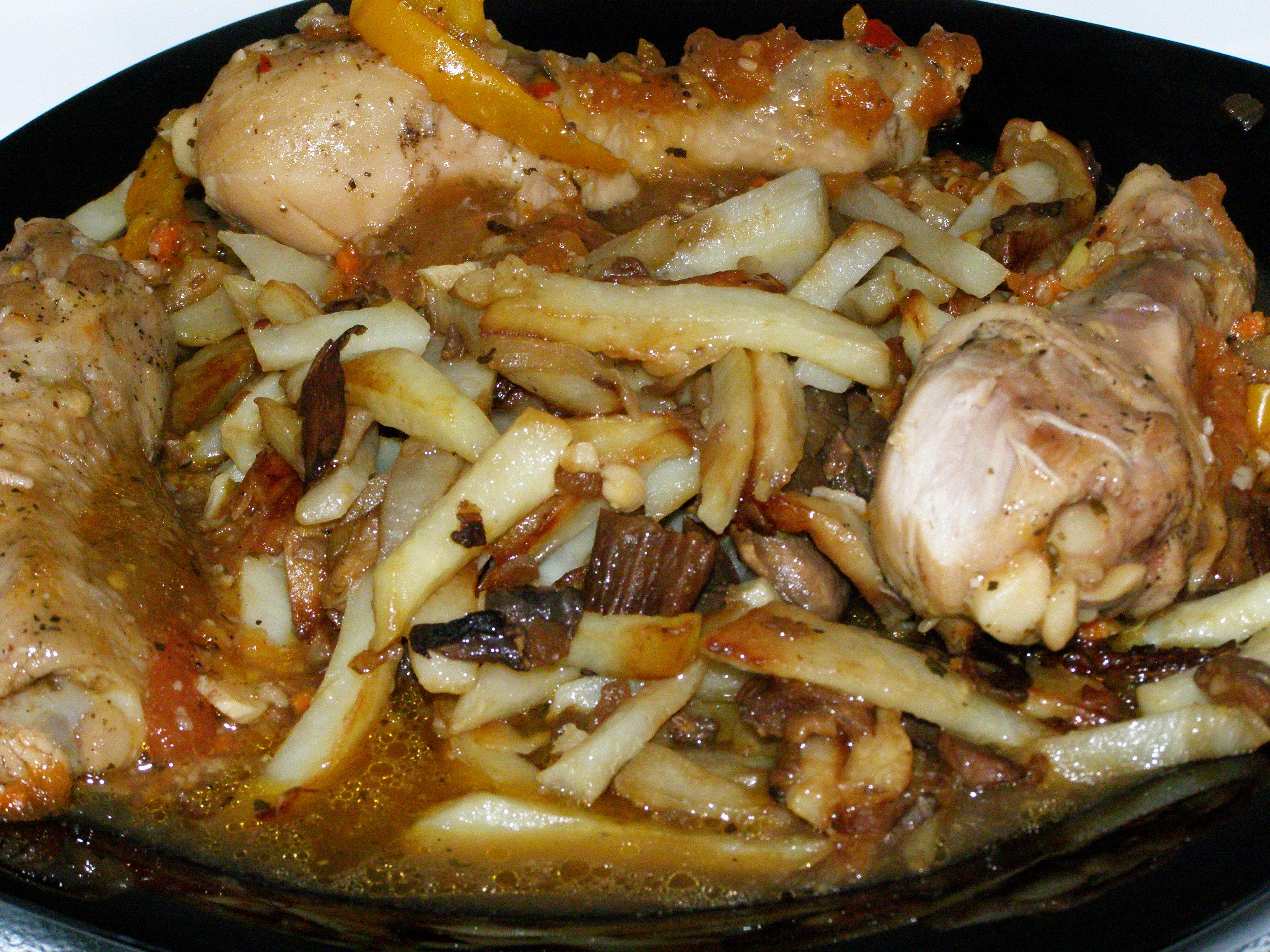 Рецепты картошка с грибами и курицей в мультиварке рецепт с пошагово