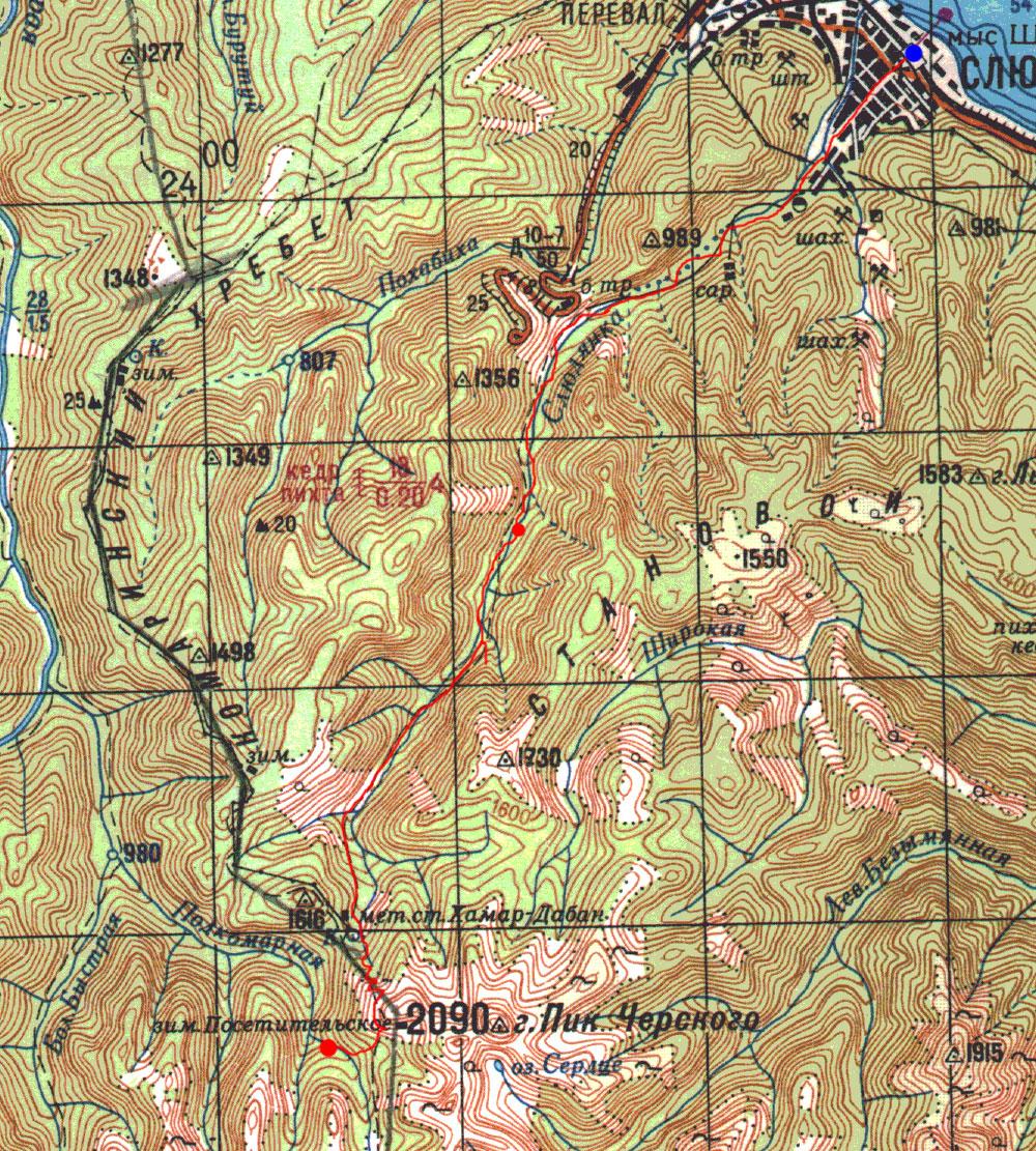 Карта маршрута 13 июня