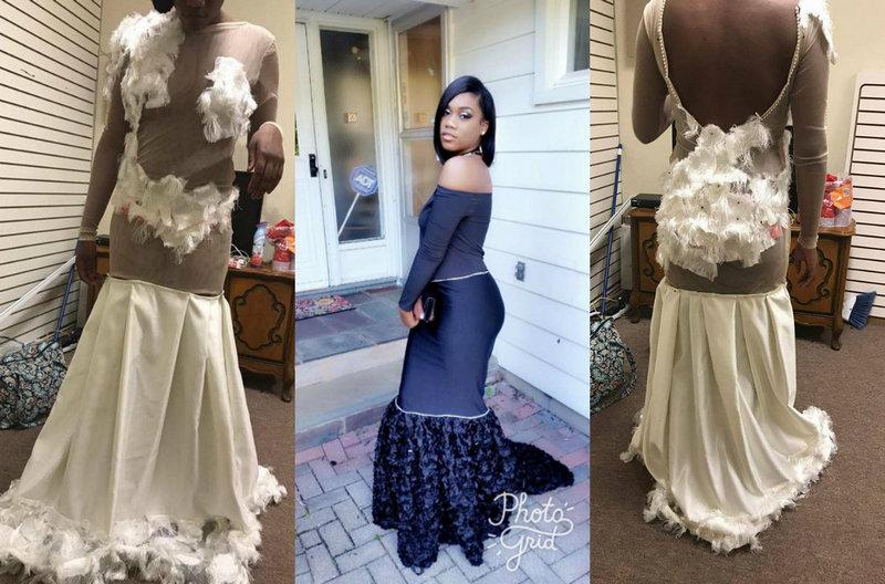 Дизайнерское платье на выпускной за $300