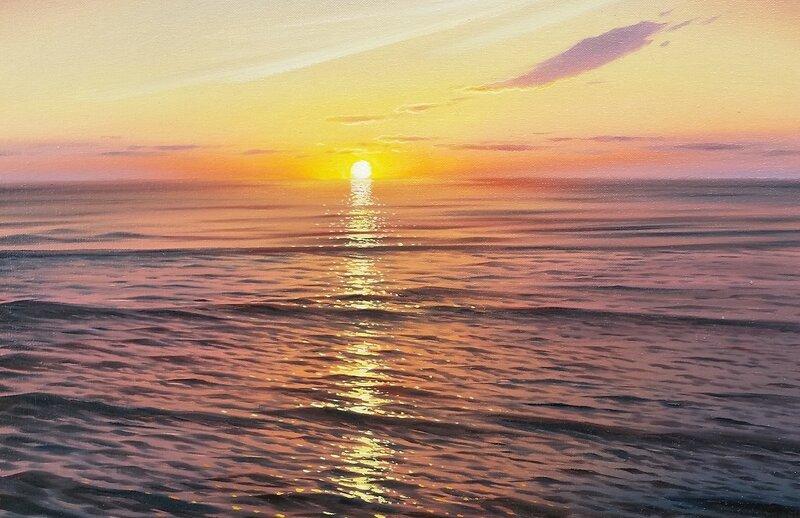 Закат на море ...