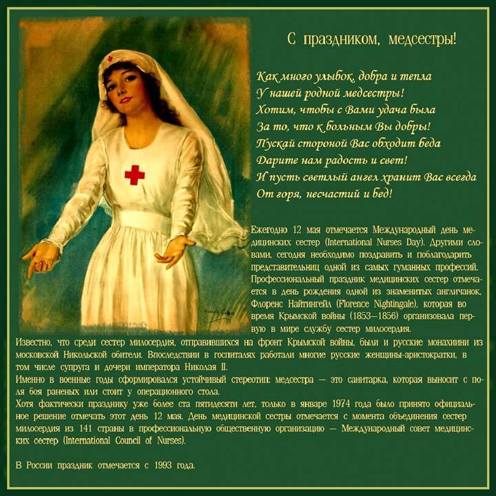 Международный день медицинской сестры Открытка