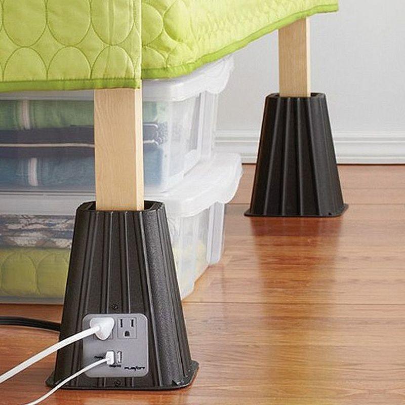 3. Подставка для кровати Подставки для ножек кровати, которые приподнимут постель на нужный уровень