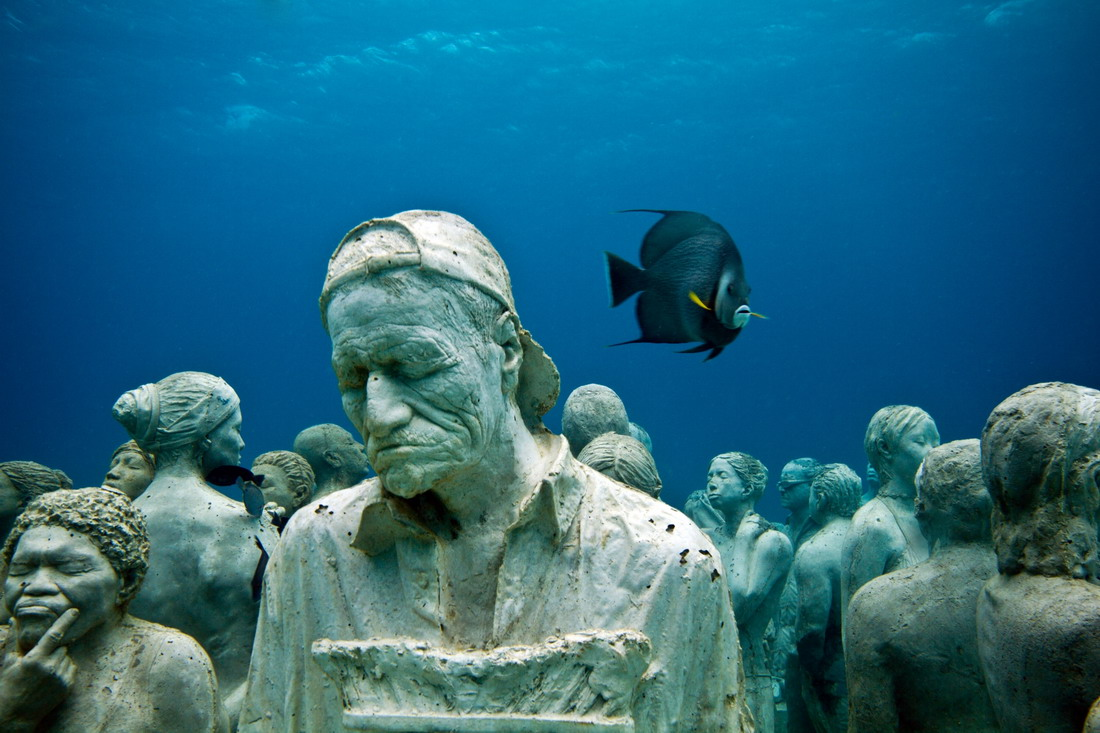 Подводный музей в Канкуне (53 фото)