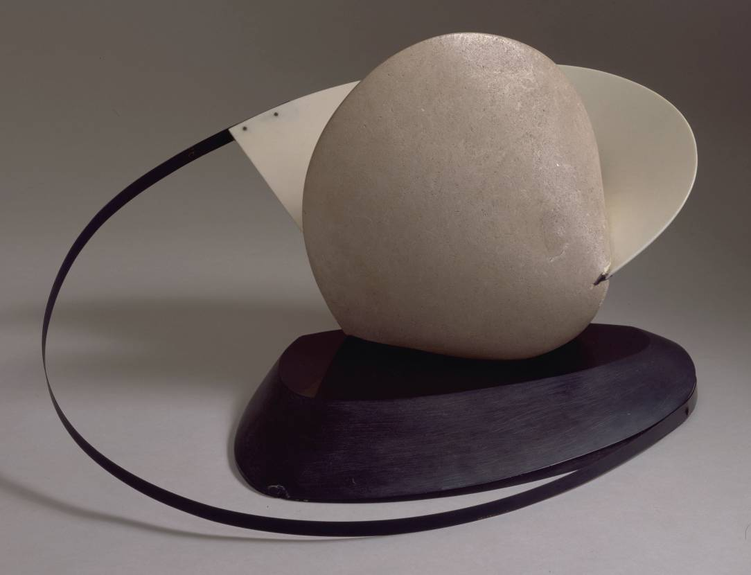 Construction: Stone with a Collar 1933, this version circa 1936-7 by Naum Gabo 1890-1977