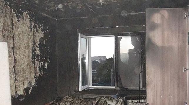 Последствия пожара вминском общежитии трамвайщиков