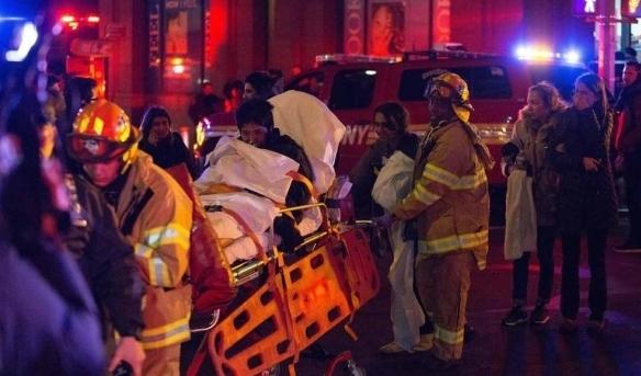 ВНью-Йорке впроцессе пожара внебоскребе пострадали десятки людей