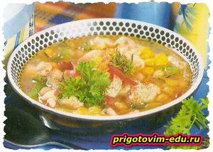 Фасолевый суп по-мексиканки