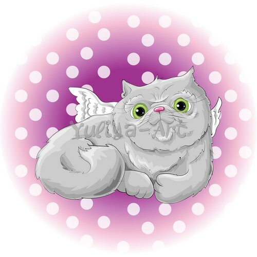 Illustration of a cute cat