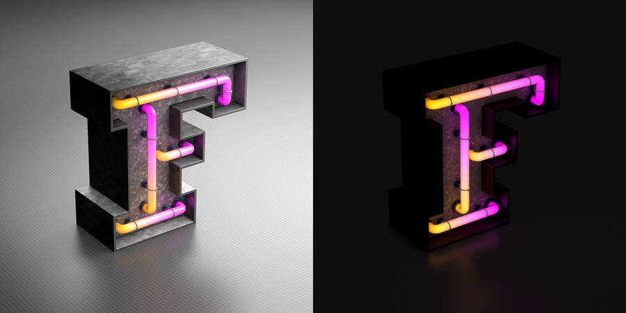Eclectic 3D Art Typography