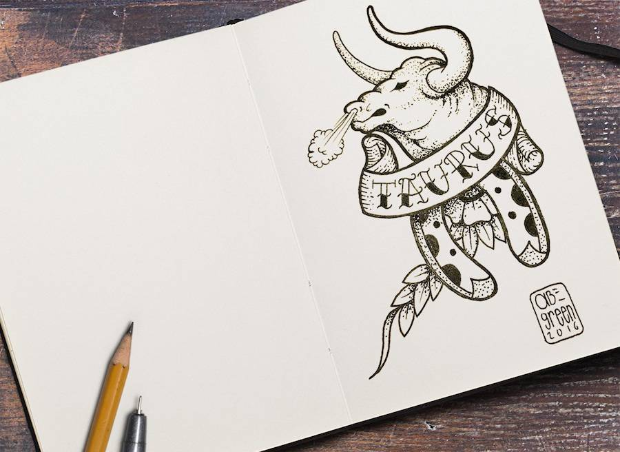 Old School Zodiac Signs Tattoos