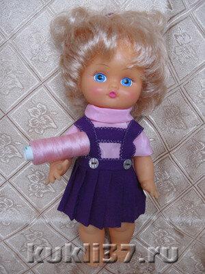плиссированная юбочка для куклы