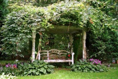 Садовый ландшафт в русском стиле