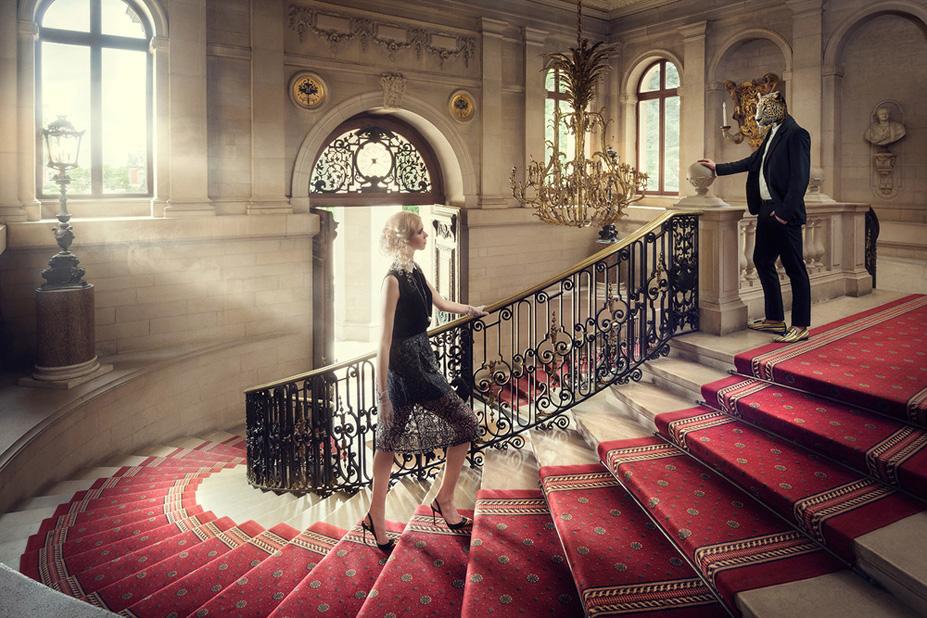 Le grand escalier - Une vie de chateau / A golden youth / photo by Malo