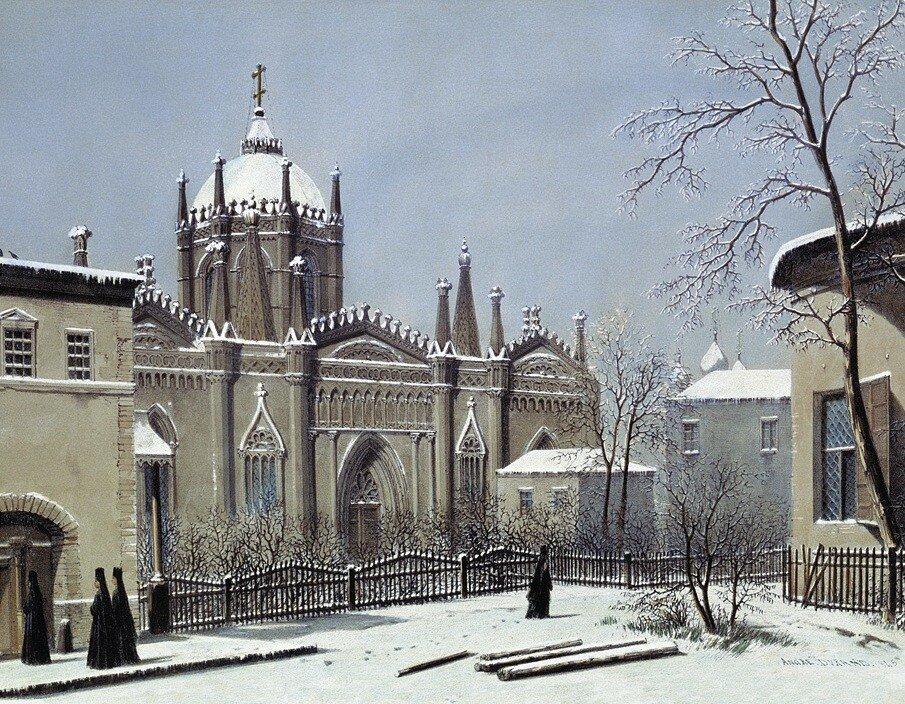 459769 Церковь Святой Екатерины Вознесенского монастыря в Кремле 1839 Андре Дюран.jpg