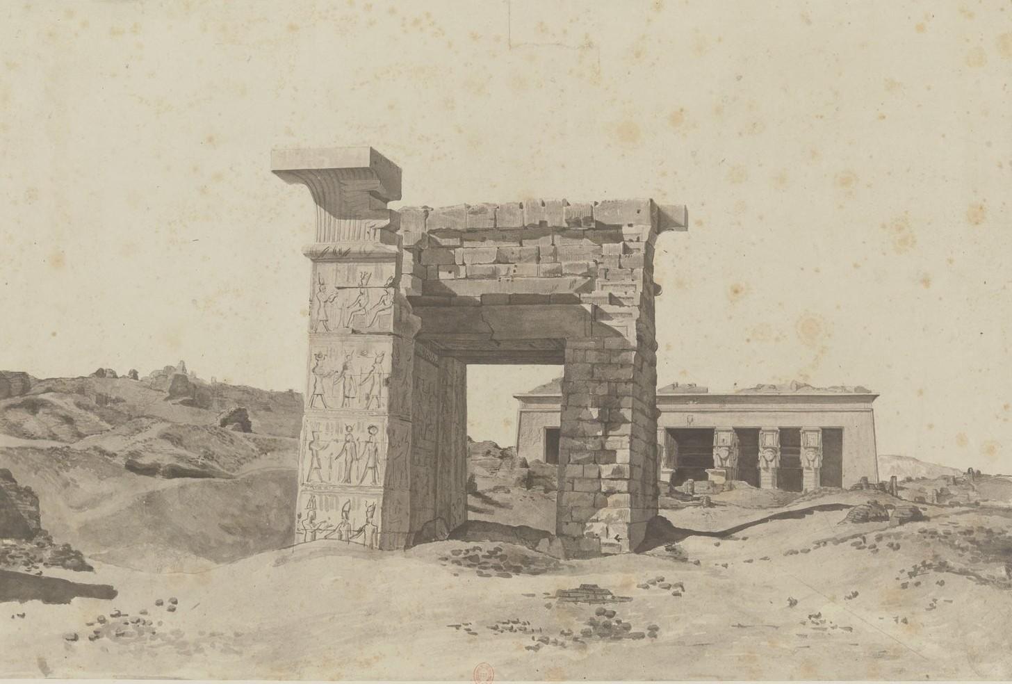 Дендере. Вид храма с севера