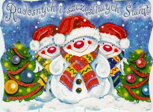 Новогодние открытки снеговика