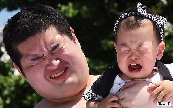 Наки сумо - японский фестиваль детского плача