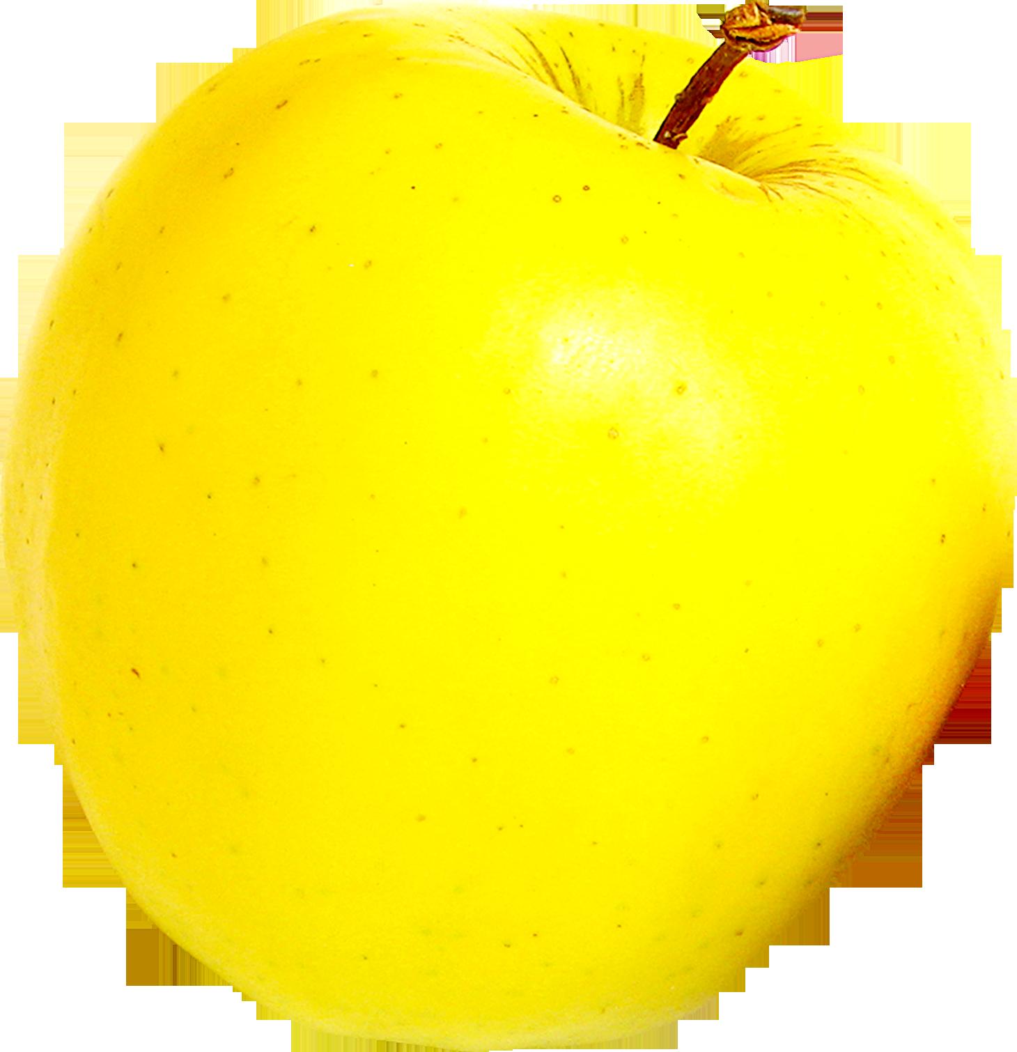 Картинка желтое яблоко для детей на прозрачном фоне