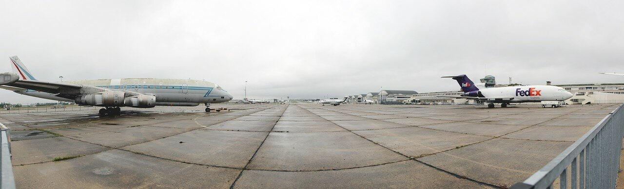 Museum of air and space in Le Bourget. Panoramnc photo