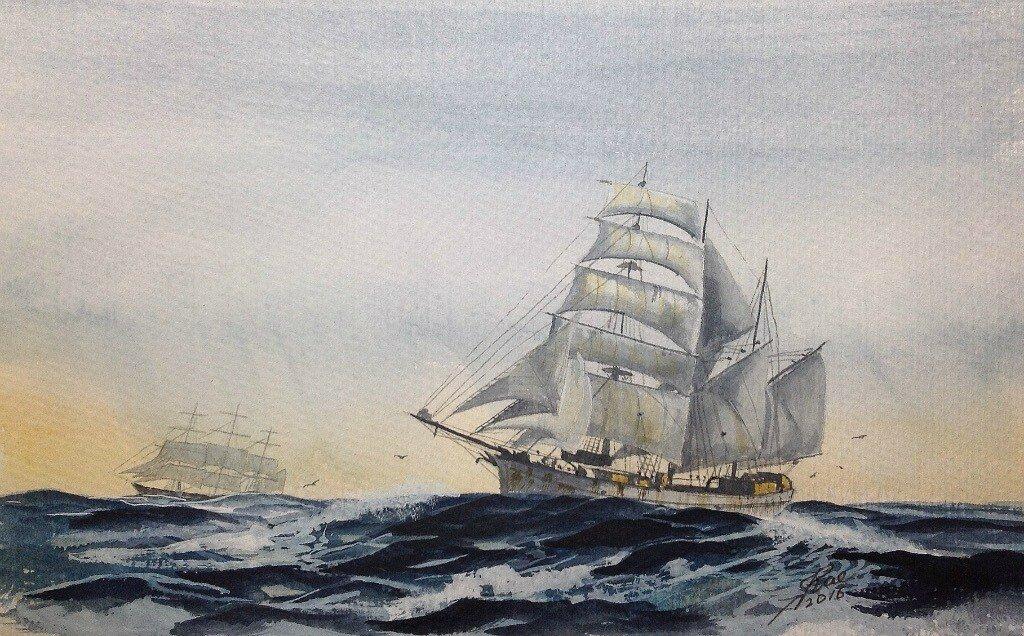 Barquentine Ilma 1900-1925.