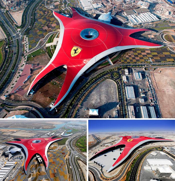Парк Ferrari World в Дубае.