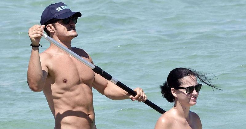 В августе таблоиды облетело фото Орландо Блума и его новой подруги Кэти Перри на отдыхе в Италии