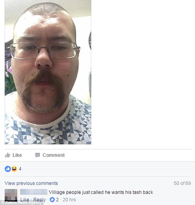 Усы этого мужчины стали легкой мишенью для нападок.